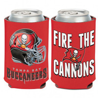 Tampa Bay Buccaneers WinCraft Fire The Cannons 12oz Can Cooler Koozie
