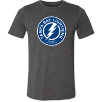 Tampa Bay Lightning Men's Tri-blend Shoulder Patch Logo Tee