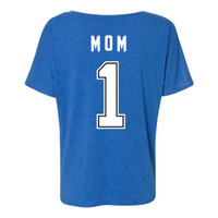 Women's Tampa Bay Lightning #1 MOM Tri-blend Slouchy V-neck Tee