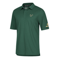 Men's University of South Florida Adidas Official Sideline Iconic Green Polo
