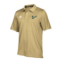 Men's University of South Florida Adidas Official Sideline Iconic Climalite  Polo