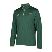 Men's USF Bulls Adidas Official Sideline Iconic L/S 1/4 Zip