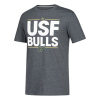 Men's University of South Florida Adidas Official Sideline Performance Go To Tee