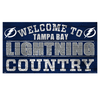 Tampa Bay Lightning Wincraft Country Wood Sign