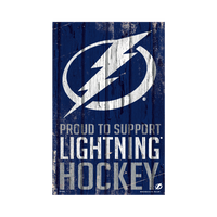 Tampa Bay Lightning Wincraft Proud To Support Wood Sign
