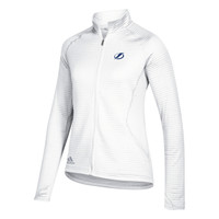 Women's Tampa Bay Lightning adidas Textured White Full Zip