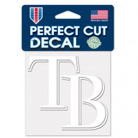 "Tampa Bay Rays WinCraft Perfect Cut White Decal 4"" x 4"""