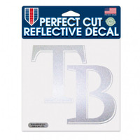 "Tampa Bay Rays WinCraft Reflective Perfect Cut 6""x 6"""