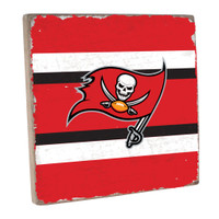 Tampa Bay Buccaneers Rustic Marlin Team Color Stripes Sign