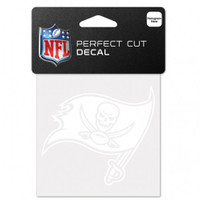 """Tampa Bay Buccaneers WinCraft Perfect Cut White Decal 4""""x4"""""""