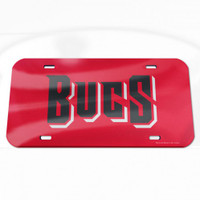 Tampa Bay Buccaneers WinCraft  BucS Crystal Mirror License Plate