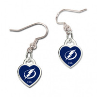 Tampa Bay Lightning WinCraft Heart Charm Dangle Earrings