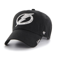 Women's Tampa Bay Lightning 47' Brand Black Sparkle Clean Up Hat