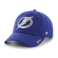 Women's Tampa Bay Lightning 47' Brand Royal Sparkle Clean Up Hat