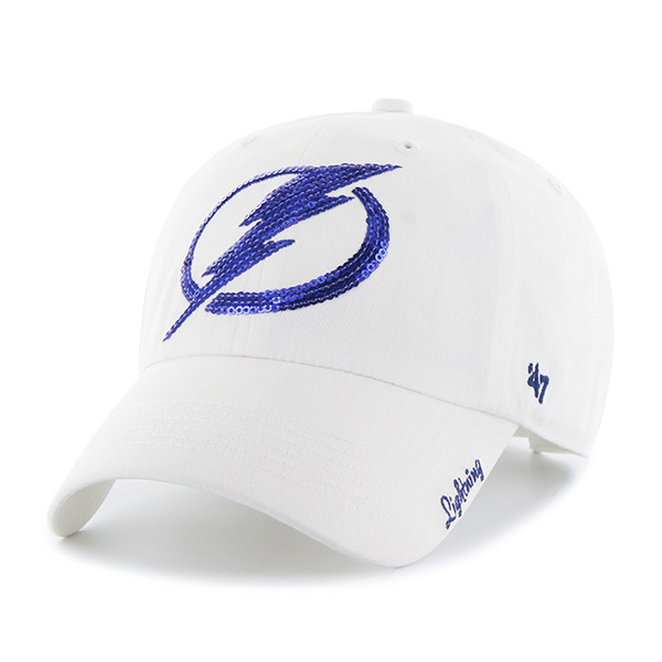 ... Women s Tampa Bay Lightning 47  Brand White Sparkle Clean Up Hat. Image  1 6504186164