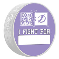 "Tampa Bay Lightning Hockey Fights Cancer Special Edition ""I FIGHT FOR"" Puck"