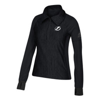 Women's Tampa Bay Lightning adidas Vertical Heather 1/4 Zip
