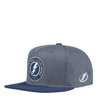 Men's Tampa Bay Lightning adidas Heathered Grey Snapback