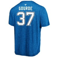 Men's Tampa Bay Lightning Yanni Gourde Name & Number Performance Tee