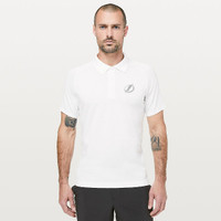 Men's Tampa Bay Lightning lululemon White Metal Vent Tech Polo
