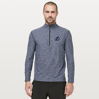 Men's Tampa Bay Lightning lululemon  Heathered Nautical Navy Surge Warm 1/2 Zip