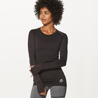 Women's Tampa Bay Lightning lululemon Black Swiftly Tech Long Sleeve Crew