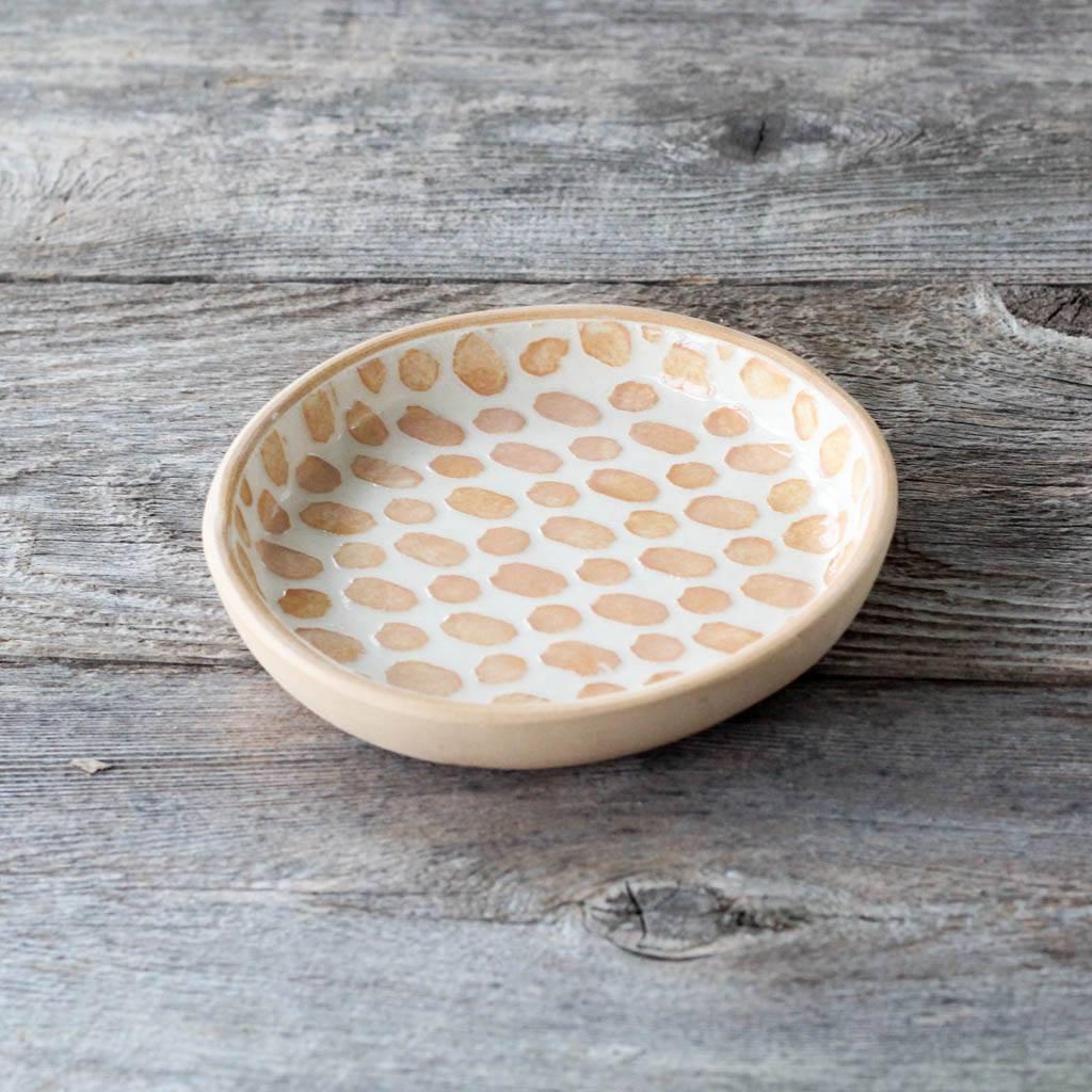 Terrafirma Ceramics Wine Coaster (Apricot/Dot)