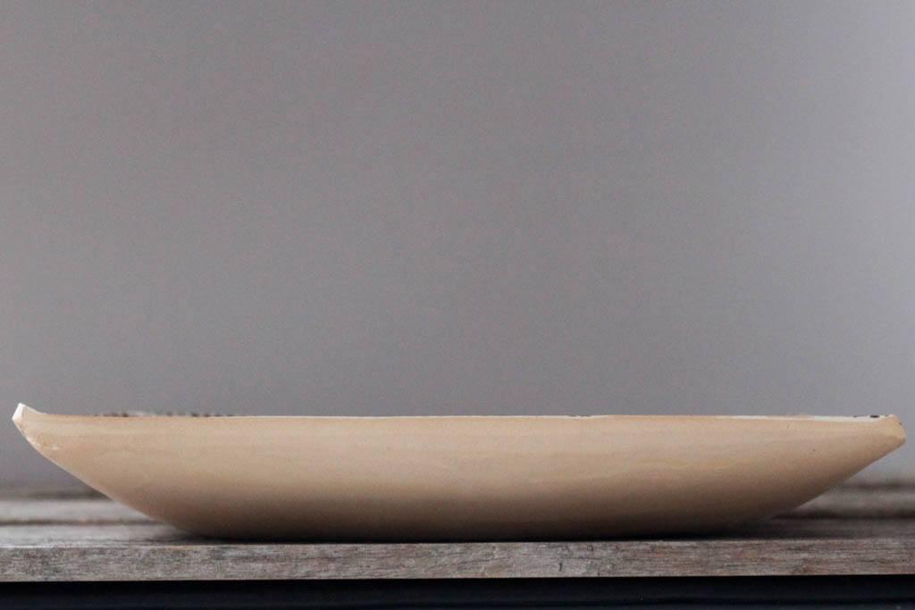 """Profile of Terrafirma Ceramics 13"""" Square Tray (Chestnut/Strata)"""