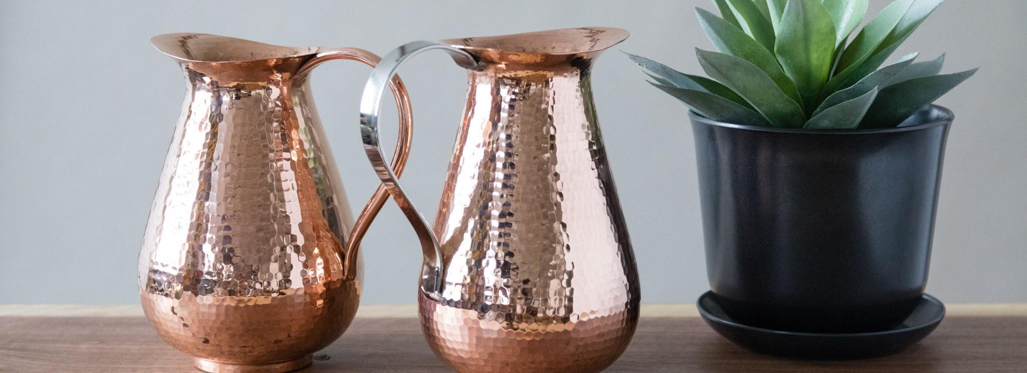 Handmade Copper Water Pitchers