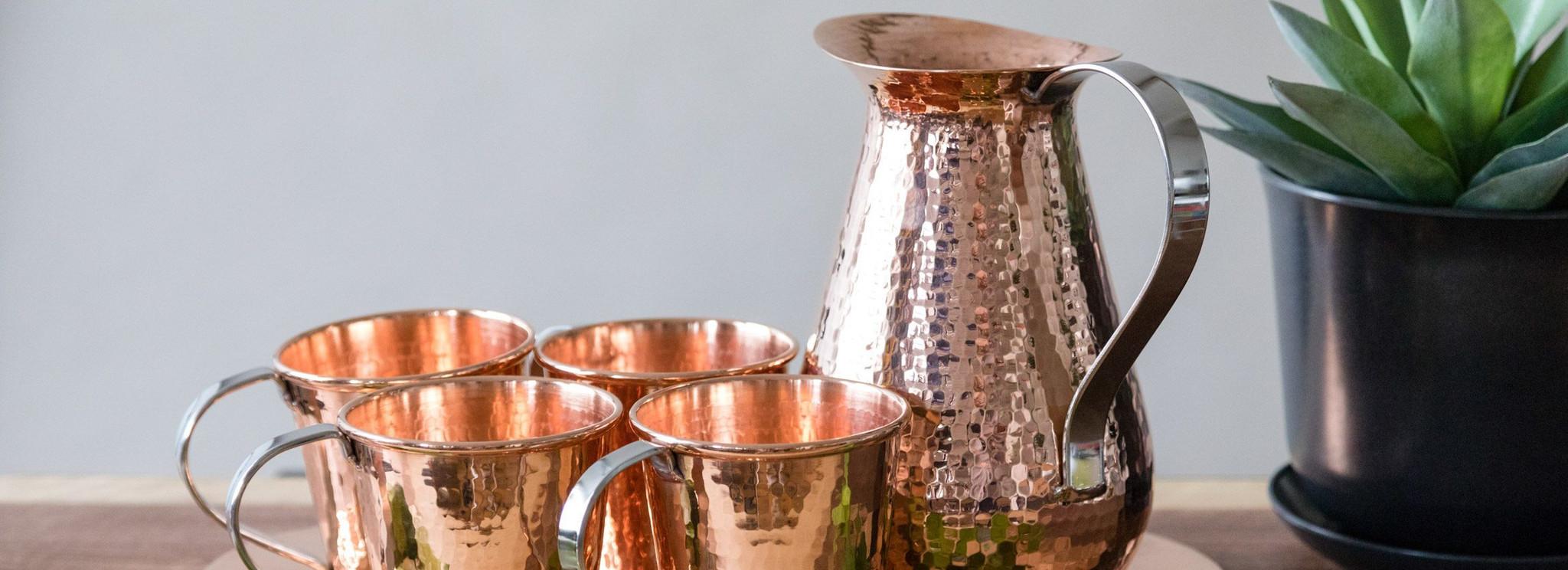 Handmade Copper Drinkware Sets