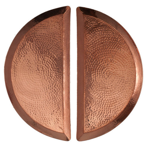 Pair of Half Moon Serving Trays