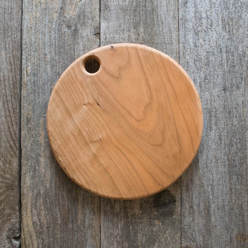 "Handmade Wooden Cutting Board by Rockledge Farm Woodworks - 10"" Round (Cherry)"