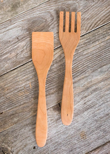 Handmade Salad Server Set (Cherry) by Rockledge Farm Woodworks