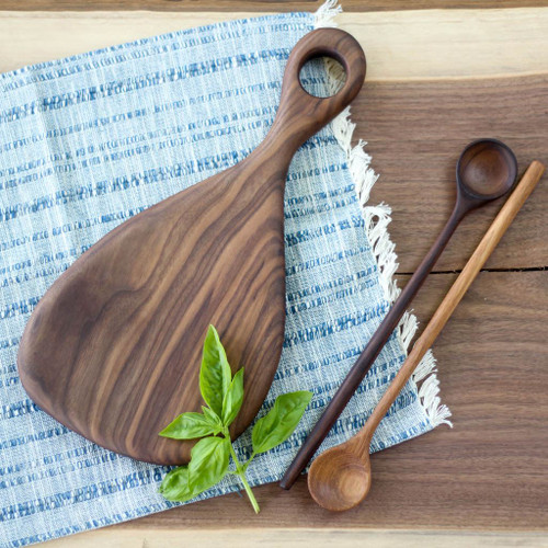 Handmade Wooden Cutting Board | the Fig (Black Walnut) by Wood and Button