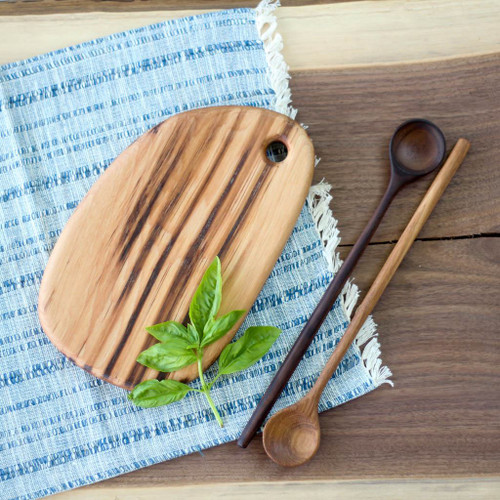 Handmade Wooden Cutting Board | the Little Chef (Hickory) by Wood and Button