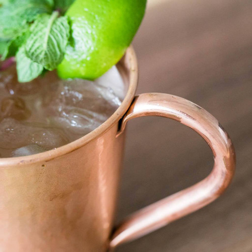 Hammered Copper Moscow Mule Mug by Sertodo Copper (Copper Handle)
