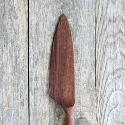Hand Carved Walnut Cake Knife by Four Leaf Wood Shop