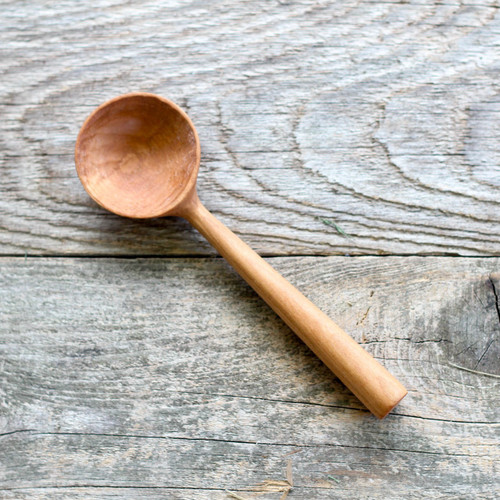 Hand Carved Cherry Coffee Scoop by Four Leaf Wood Shop