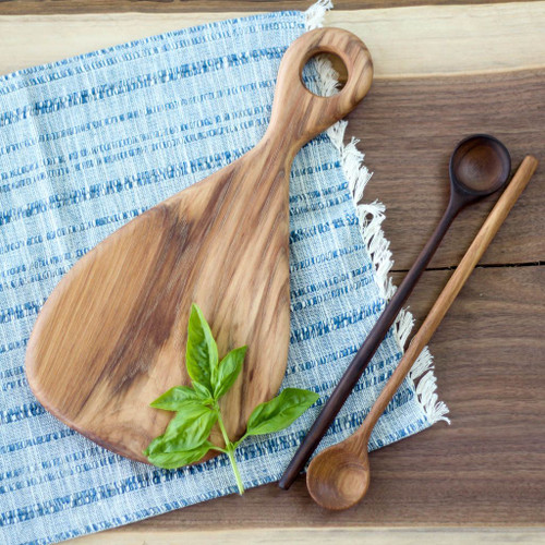 Handmade Wooden Cutting Board | the Fig (Hickory) by Wood and Button