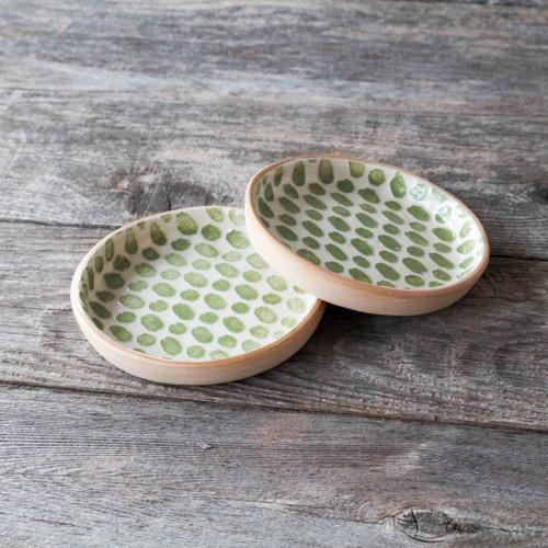Terrafirma Ceramics Wine Coaster (Citrus/Dot)