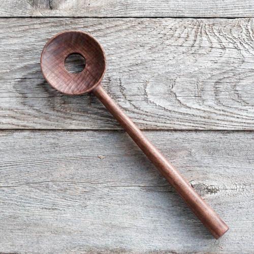 Hand Carved Stirring Spoon (Walnut) by Four Leaf Wood Shop