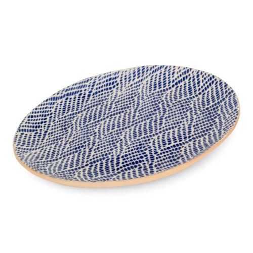 Terrafirma Ceramics Small Oval (Cobalt/Braid)