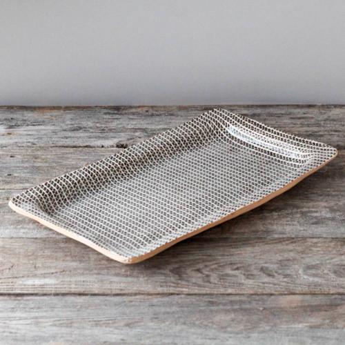 Terrafirma Ceramics Large Rectangle Tray (Chestnut/Strata)