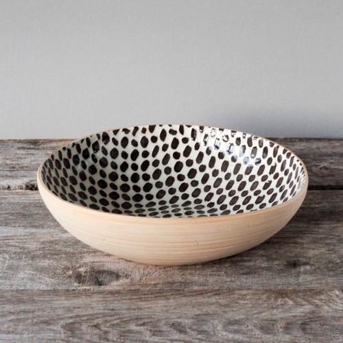 Terrafirma Ceramics - Medium Serving Bowl (Chestnut/Dot)
