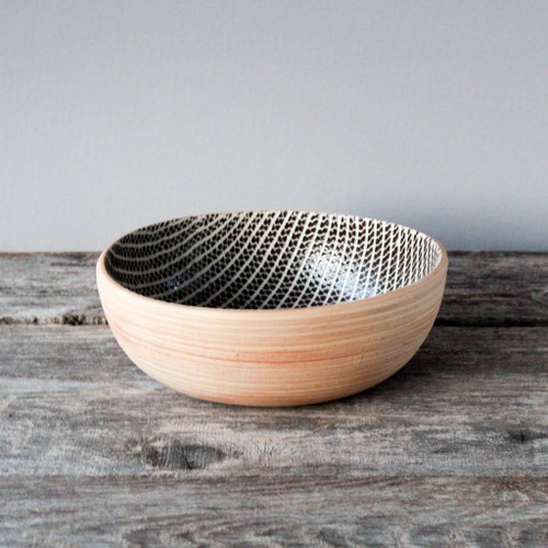 Terrafirma Ceramics Large Coupe Bowl (Chestnut/Strata)