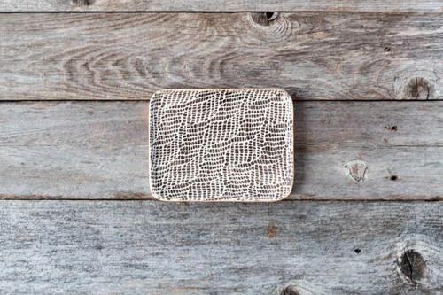 Terrafirma Ceramics Tidbit Tray (Chestnut/Braid)