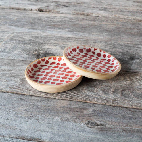 Terrafirma Ceramics Wine Coaster (Poppy/Dot)