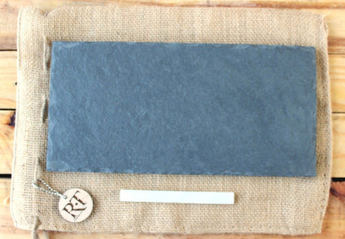 "Slate Cheese Board (6"" x 12"" - Gray) by Rock Timber"
