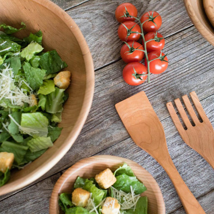 Featured: Handmade Wooden Salad Bowls by Rockledge Farm Woodworks