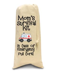 Mom's Survival Kit Wine Bag